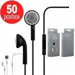 50pc Lot of iPhone Style Stereo Earphone Headset with Mic - Mix Color - Box Deal