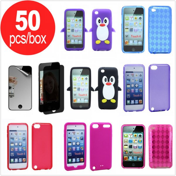 Wholesale 50pc Lot of iPod Touch 5 / Touch 4 Assorted Mix Style and Color Cases - Lots Deal