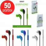 50pc Lot of KIKO 883 Stereo Earphone Headset with Mic - Mix Color - Box Deal