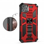Wholesale Tuff Armor Hybrid Stand Case with Magnetic Plate for Galaxy A31 (Red)