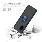 Wholesale Tuff Slim Armor Hybrid Ring Stand Case for Samsung Galaxy A31 (Navy Blue)