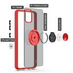 Wholesale Tuff Slim Armor Hybrid Ring Stand Case for Samsung Galaxy A31 (Red)
