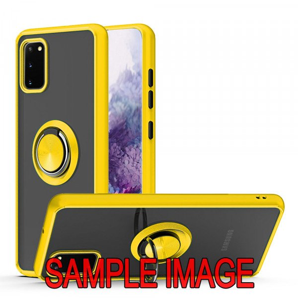 Wholesale Tuff Slim Armor Hybrid Ring Stand Case for Samsung Galaxy A31 (Yellow)