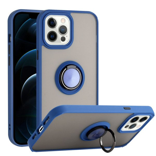 Wholesale Tuff Slim Armor Hybrid Ring Stand Case for Apple iPhone 13 Mini [5.4] (Navy Blue)