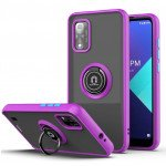Wholesale Tuff Slim Armor Hybrid Ring Stand Case for Wiko Ride 3 (Purple)