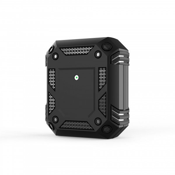 Wholesale Tech Armor Heavy Duty Hybrid Case with Hook for Apple Airpod 2 / 1 (Black)