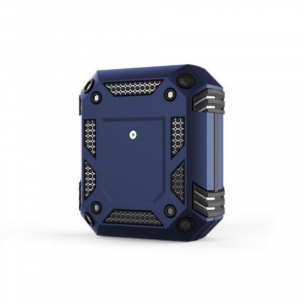 Wholesale Tech Armor Heavy Duty Hybrid Case with Hook for Apple Airpod 2 / 1 (Navy Blue)