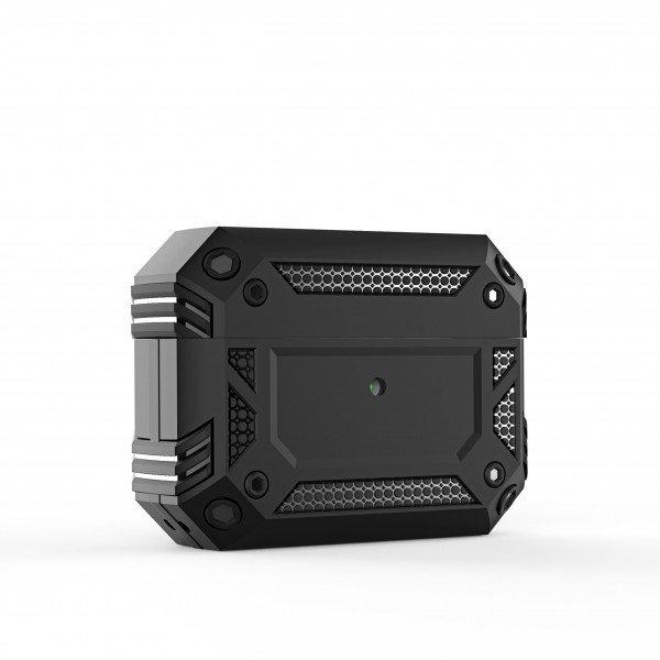 Wholesale Tech Armor Heavy Duty Hybrid Case with Hook for Apple Airpod Pro (Black)