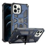 Tuff Armor Hybrid Stand Case with Magnetic Plate for Apple iPhone 13 Pro [6.1] (Navy Blue)
