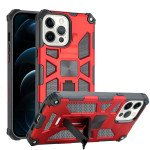 Tuff Armor Hybrid Stand Case with Magnetic Plate for Apple iPhone 13 Pro [6.1] (Red)