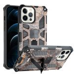 Tuff Armor Hybrid Stand Case with Magnetic Plate for Apple iPhone 13 Pro [6.1] (Tree Brown)