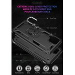 Wholesale Tech Armor Ring Stand Grip Case with Metal Plate for Samsung Galaxy A12 (Black)
