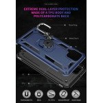 Wholesale Tech Armor Ring Stand Grip Case with Metal Plate for Samsung Galaxy A12 (Navy Blue)
