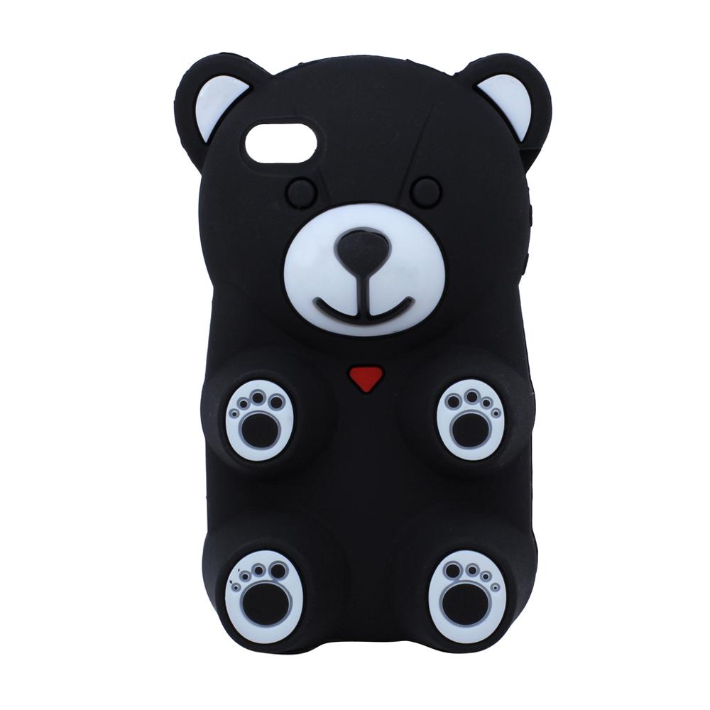 Wholesale Iphone 4 4s 3d Gummy Bear Case Black