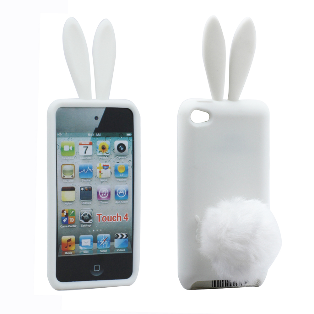 Wholesale Ipod Touch 4 3d Bunny Case With Stand Up Tail