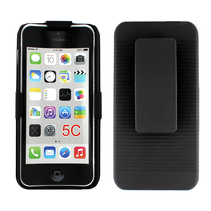 black iphone 5c apple iphone 5c holster combo black 10275