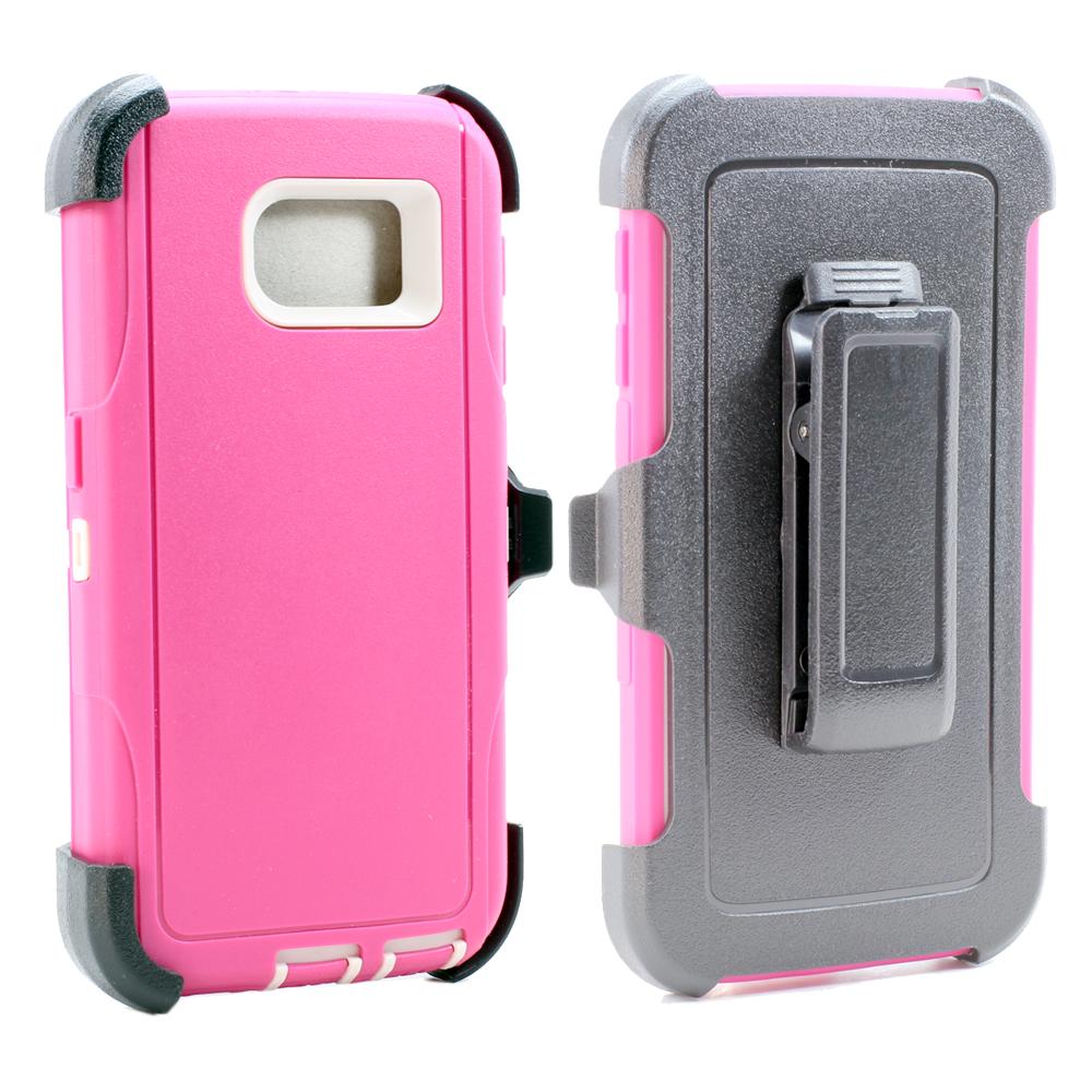 wholesale samsung galaxy s6 edge plus premium defender case withwholesale samsung galaxy s6 edge plus premium defender case with clip (hot pink white clip)