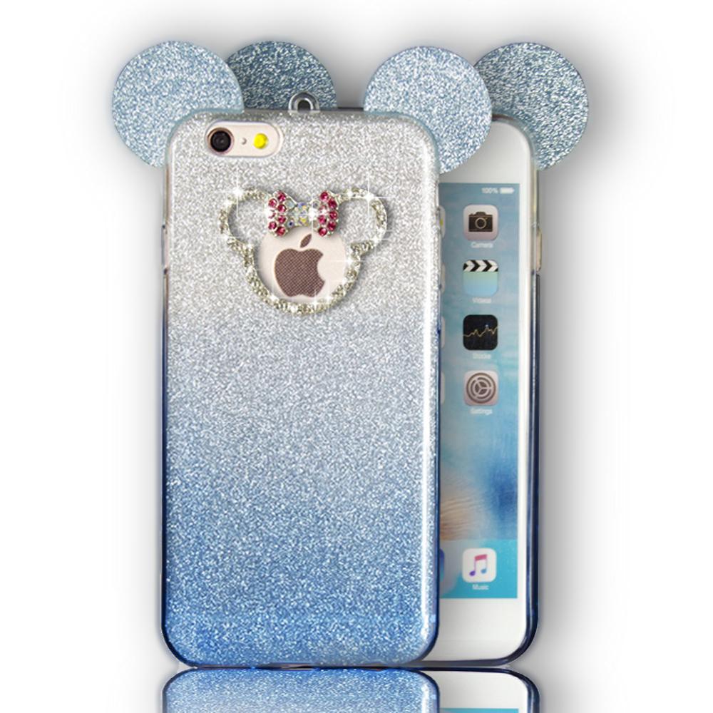 huge discount 5fafc e66a5 Wholesale iPhone 7 Plus Minnie Bow Diamond Glitter Necklace Strap ...