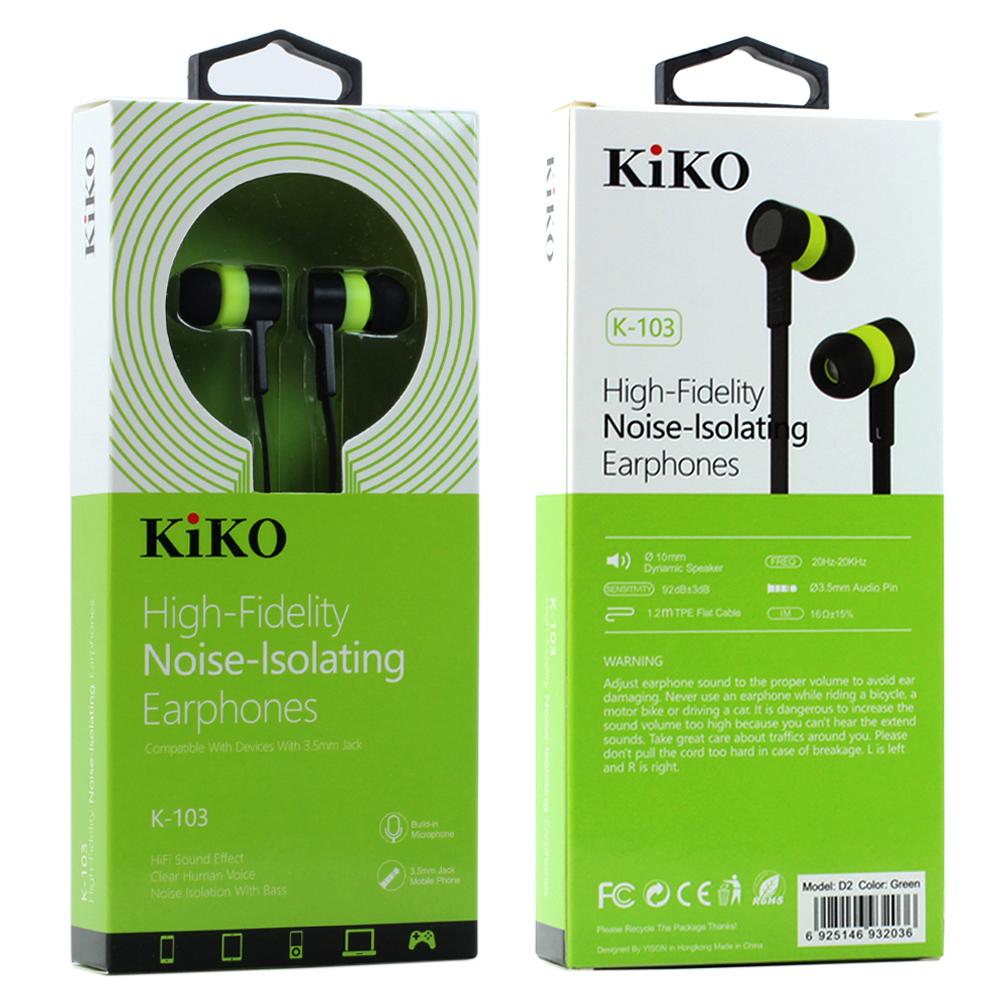 Wholesale KIKO K-103 HiFi Stereo Earphone Headset with Mic