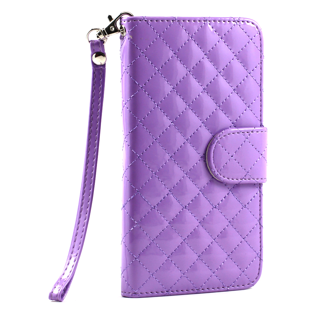 purchase cheap 19638 93b91 Wholesale Samsung Galaxy Note 4 Glossy Quilted Flip Leather Wallet ...