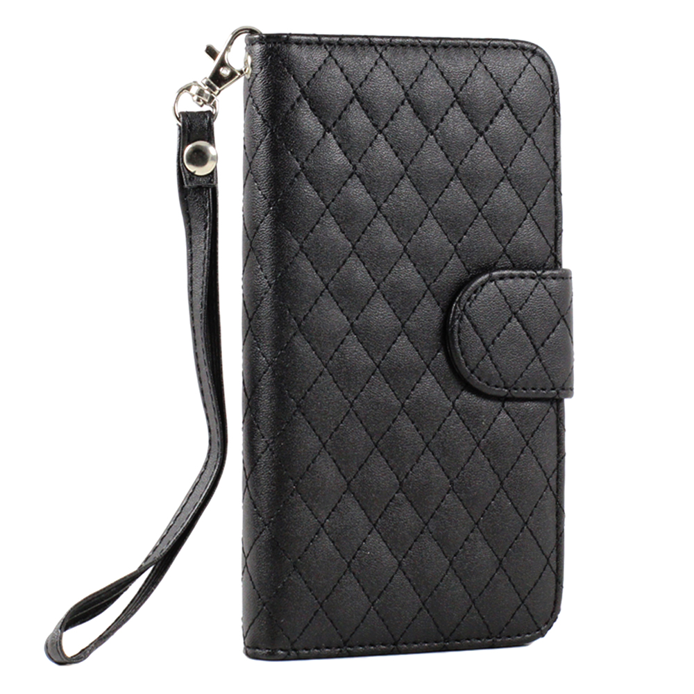 new styles 8a22a 212af Wholesale Samsung Galaxy Note 4 Quilted Flip Leather Wallet Case w ...