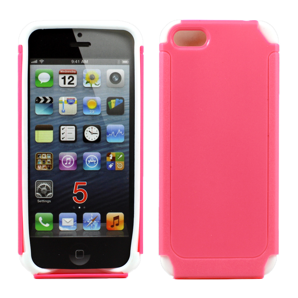 iphone 5s cheap cases apple iphone 5 5s layer pink white 9864