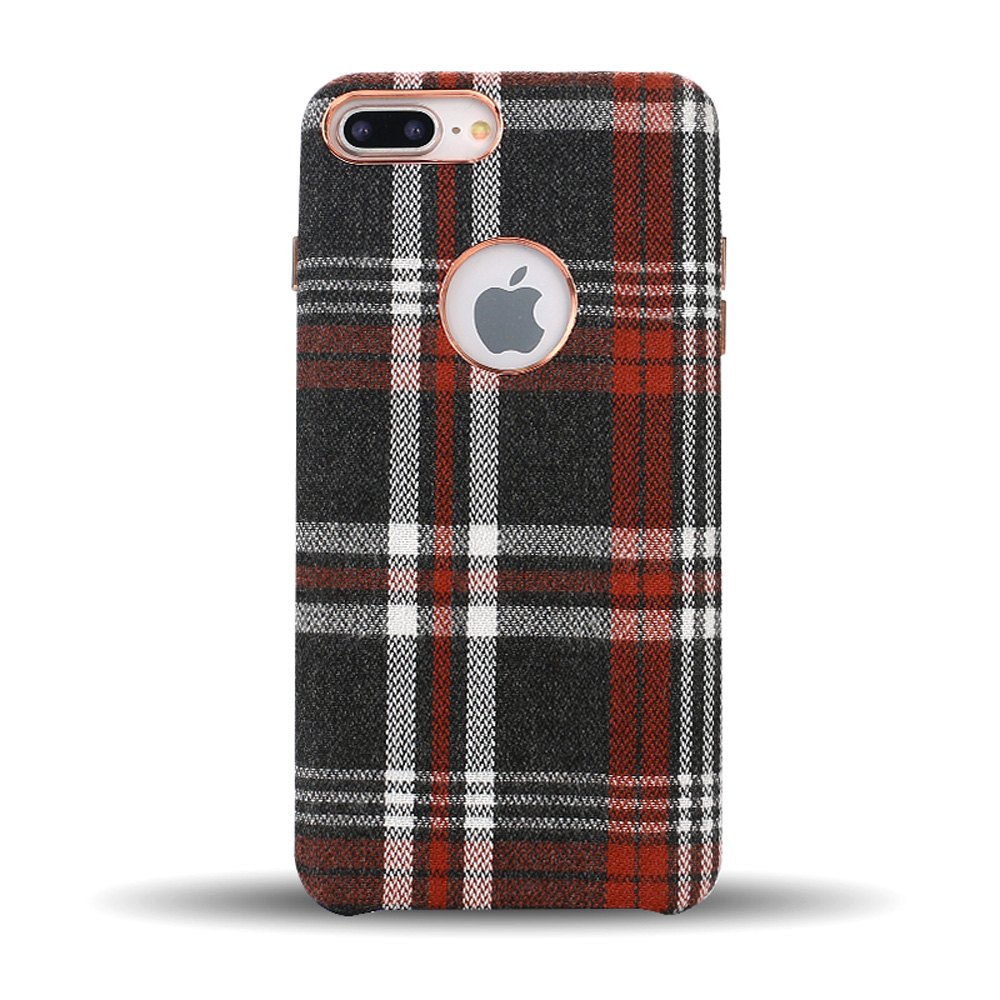 Wholesale Iphone 8 Plus    7 Plus Checkered Plaid Fabric