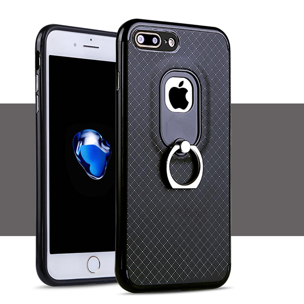 promo code 45b79 d485d Wholesale iPhone 7 Plus Aluminum Design Ring Holder Stand Case (Black)