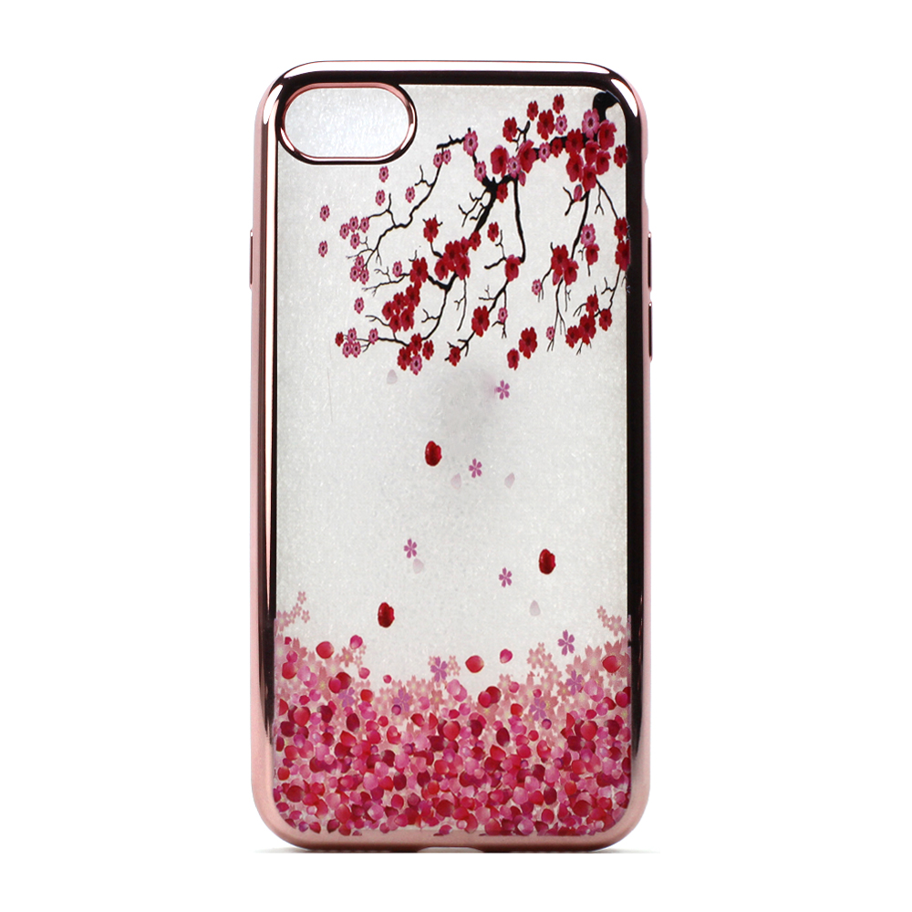 wholesale iphone 7 plus crystal clear rose gold design case cherry blossom. Black Bedroom Furniture Sets. Home Design Ideas