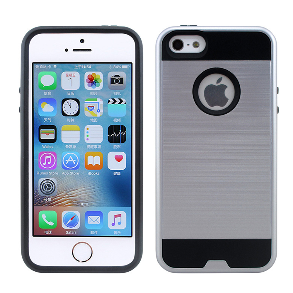 wholesale apple iphone 7 plus iron shield hybrid case silver