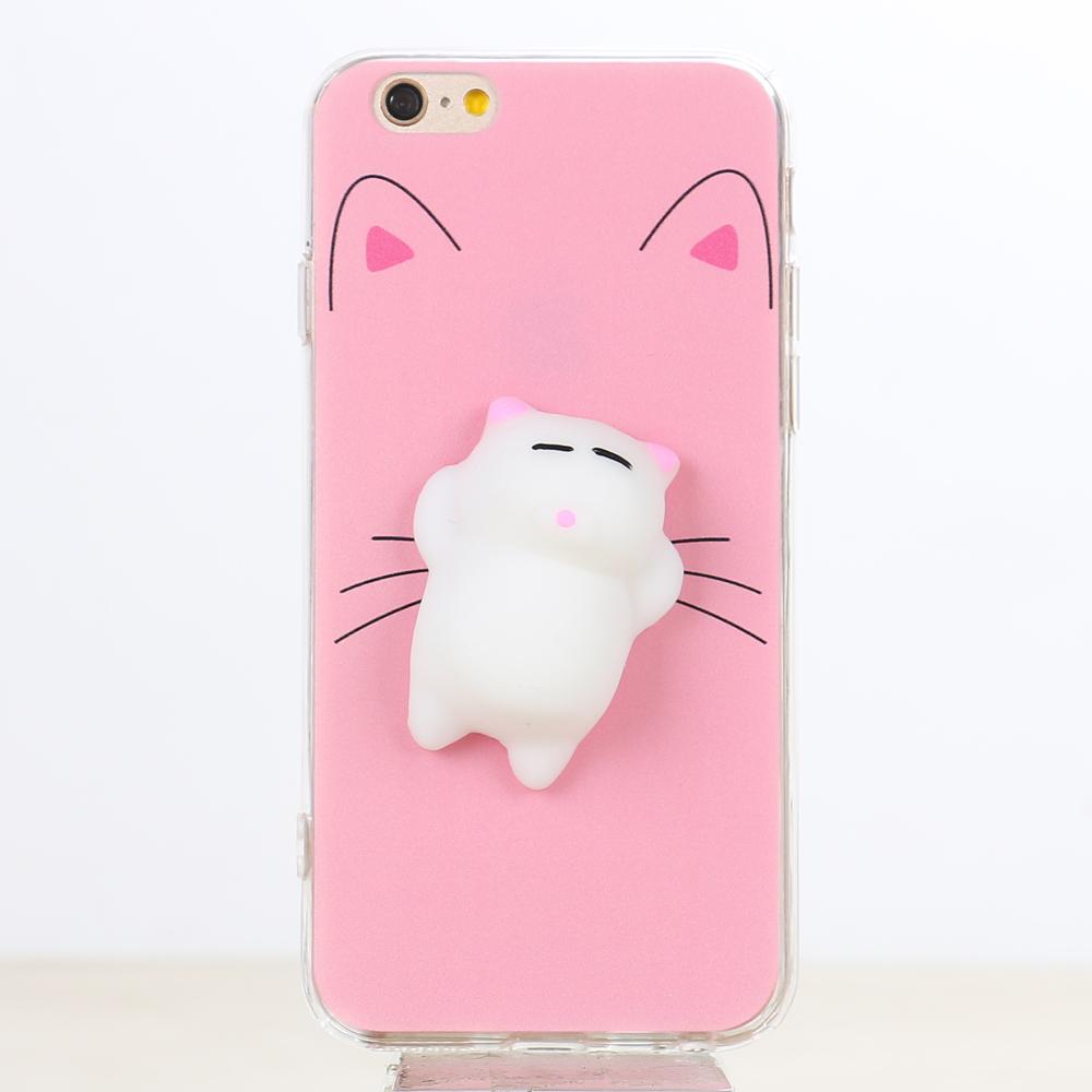 quality design 4ffe4 1aefe Wholesale iPhone 7 Plus 3D Poke Squishy Plush Silicone Soft Case (Cat)