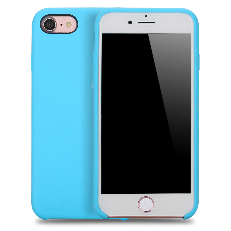 Iphone  Silicone Blue Case