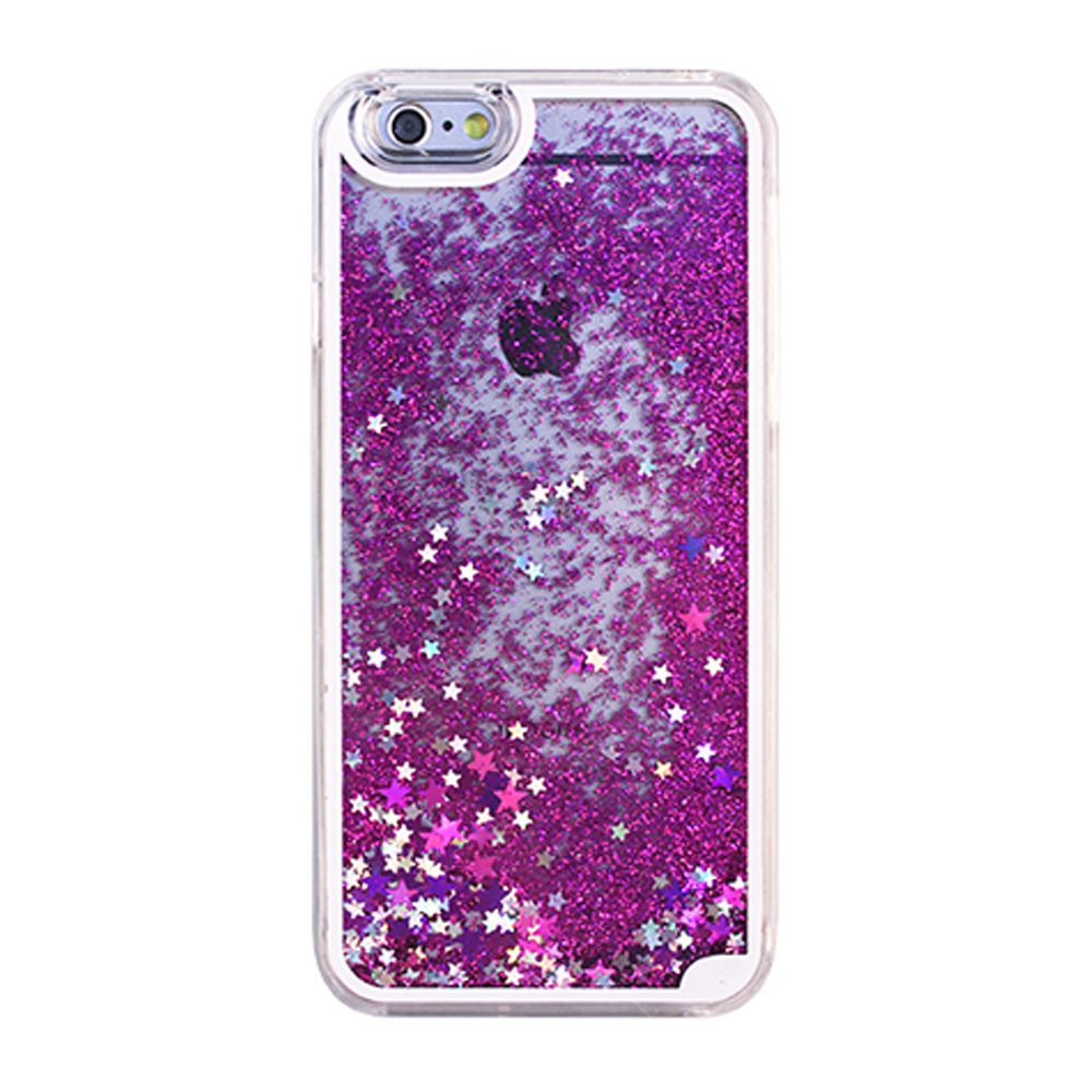 Wholesale Iphone 7 Glitter Shake Star Dust Clear Case Purple