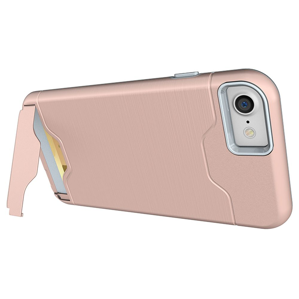 newest collection ea609 b4fe7 Wholesale iPhone 7 Plus Card Holder Hybrid Case (Rose Gold)