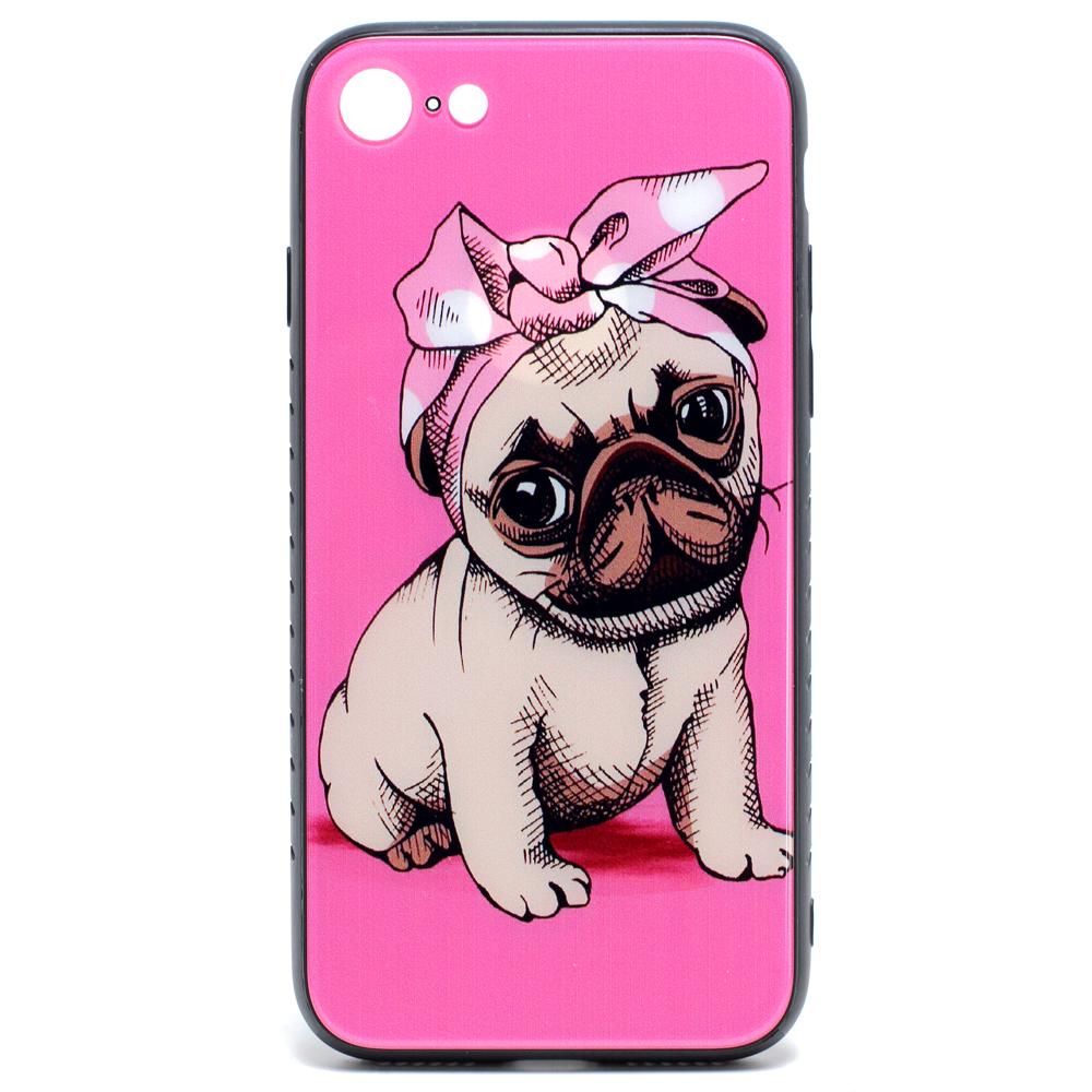 f0337f49cb Wholesale iPhone 8 Plus / 7 Plus Design Tempered Glass Hybrid Case (Puppy  Pug)