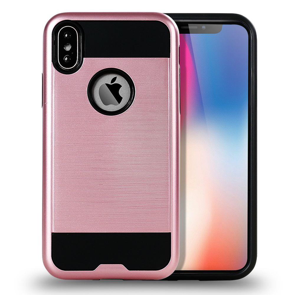 Wholesale IPhone X Ten Armor Hybrid Case Rose Gold