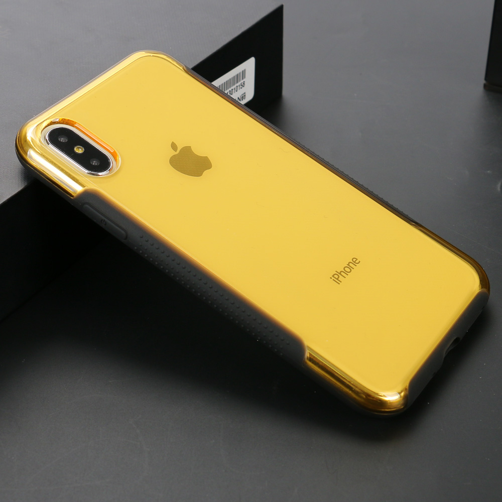 separation shoes 025d5 77408 Wholesale Apple iPhone X (Ten) Clear Armor Shell Hybrid Case (Gold)