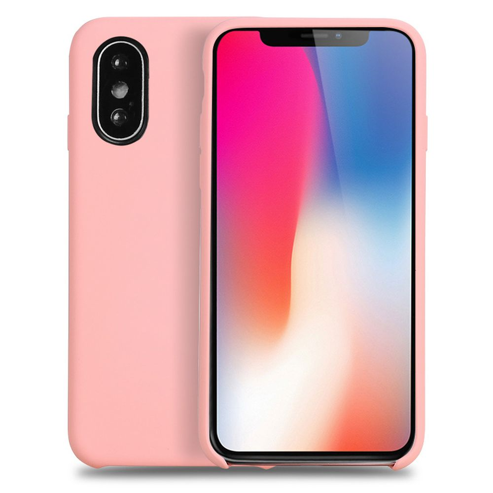 Wholesale Iphone Xs X Ten Pro Silicone Hard Case Pink