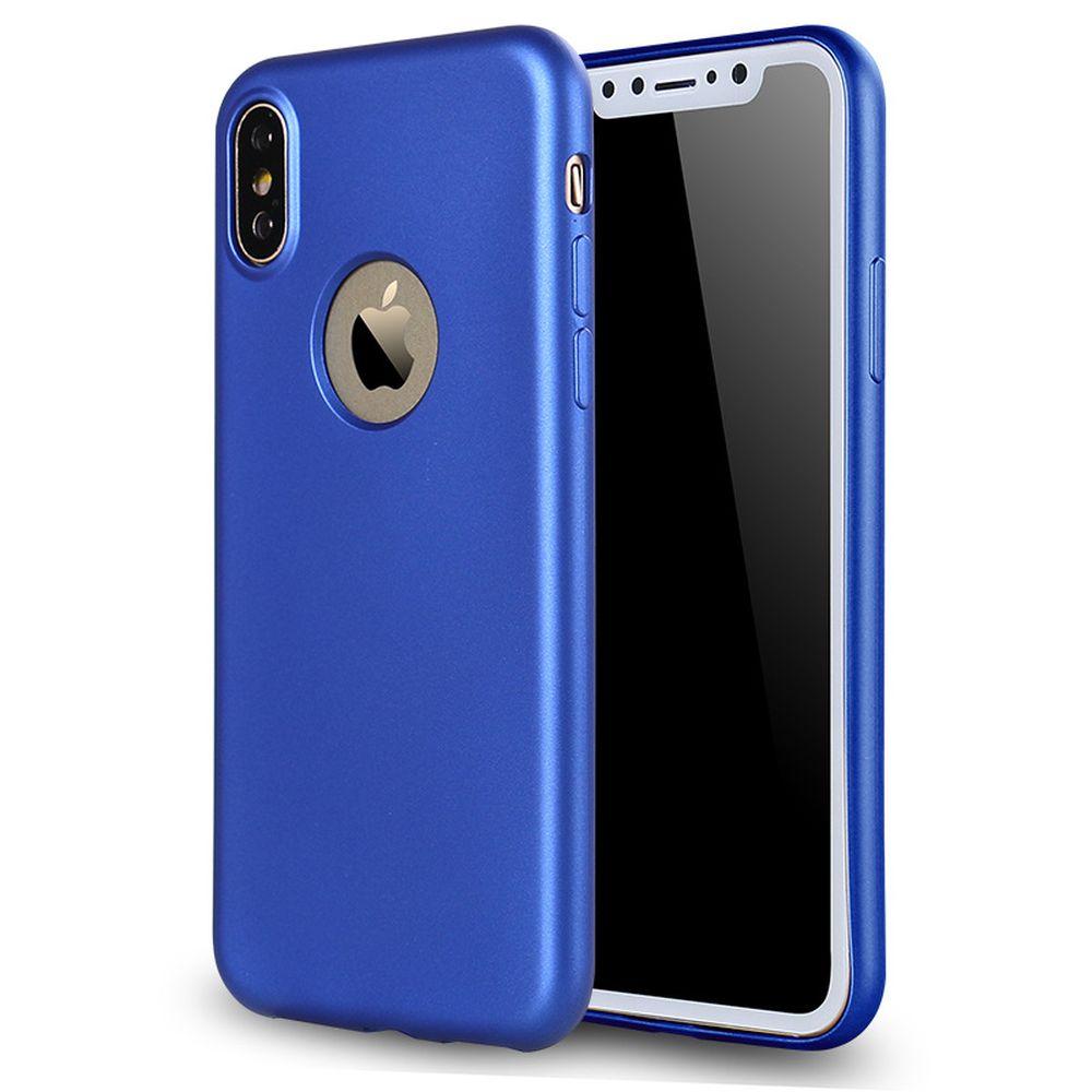 Wholesale Iphone X Ten Soft Slim Flexible Case Blue