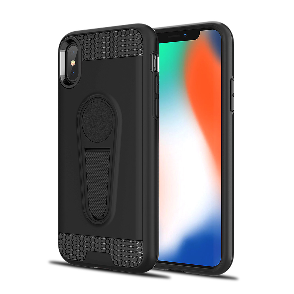 timeless design 59032 0d855 Wholesale iPhone Xs Max Metallic Plate Stand Case Work with Magnetic ...