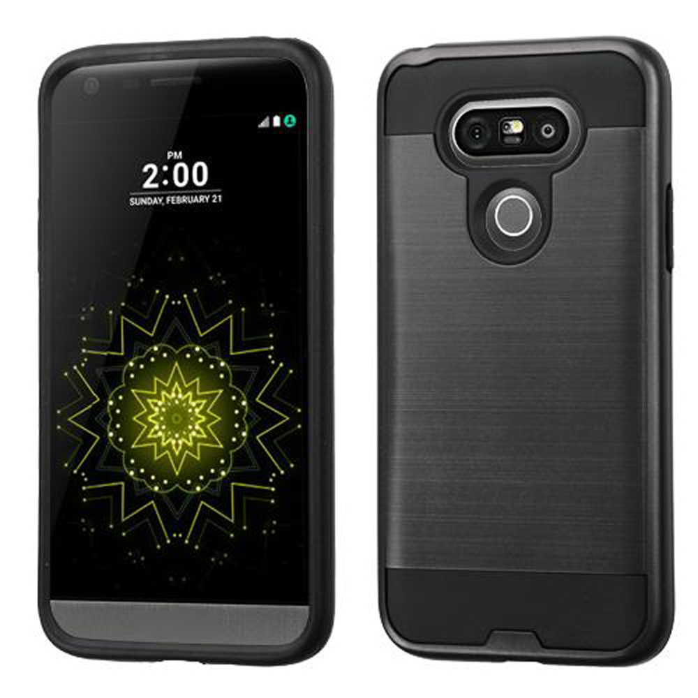 buy popular 1fe6d c357e Wholesale LG G5 Iron Shield Hybrid Case (Black)