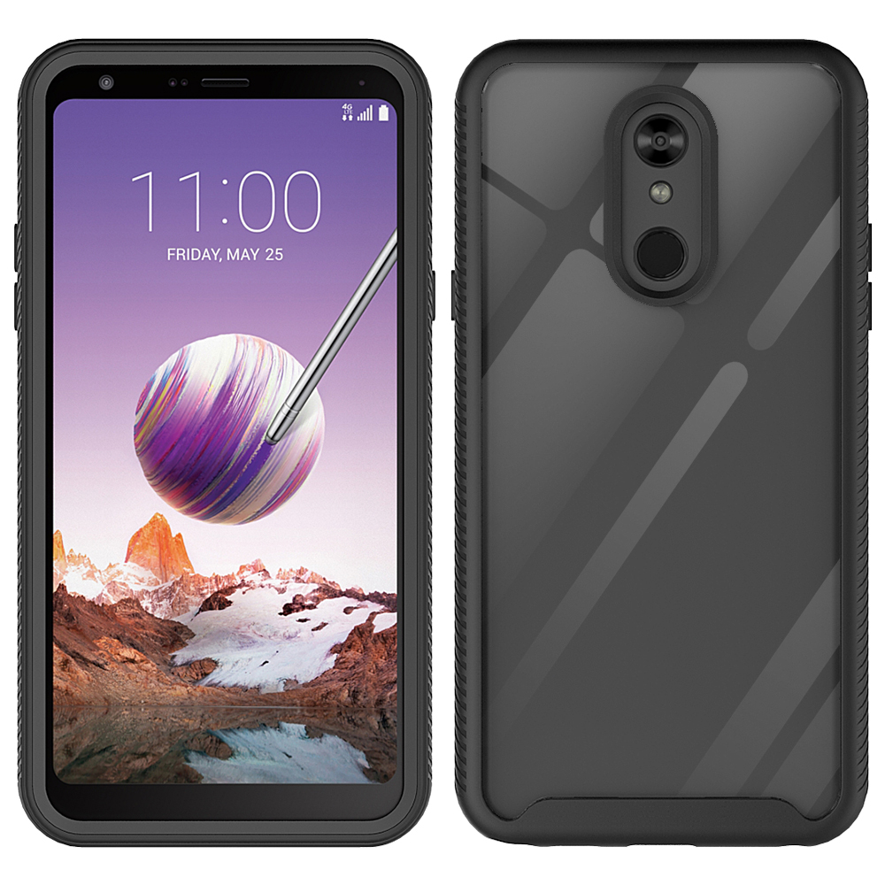 Wholesale LG Stylo 5 Clear Dual Defense Hybrid Case (Black)