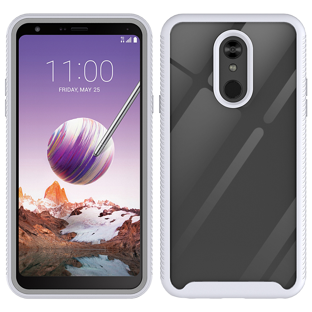 Wholesale LG Stylo 5 Clear Dual Defense Hybrid Case (White)