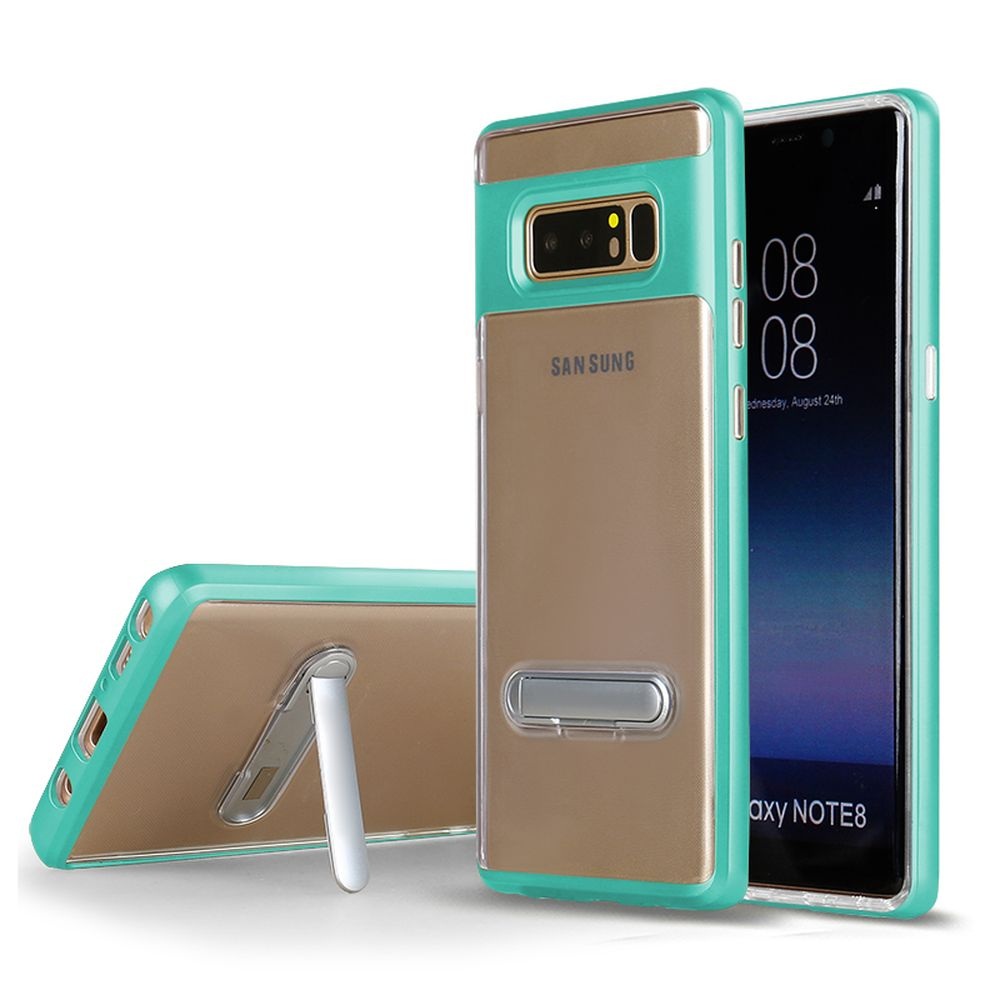 Wholesale Galaxy Note 8 Clear Armor Bumper Kickstand Case