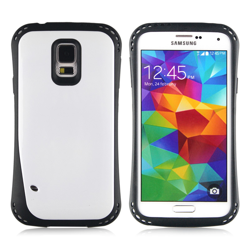 Wholesale Samsung Galaxy S5 i9600 First Class Gummy Hybrid Case (White)