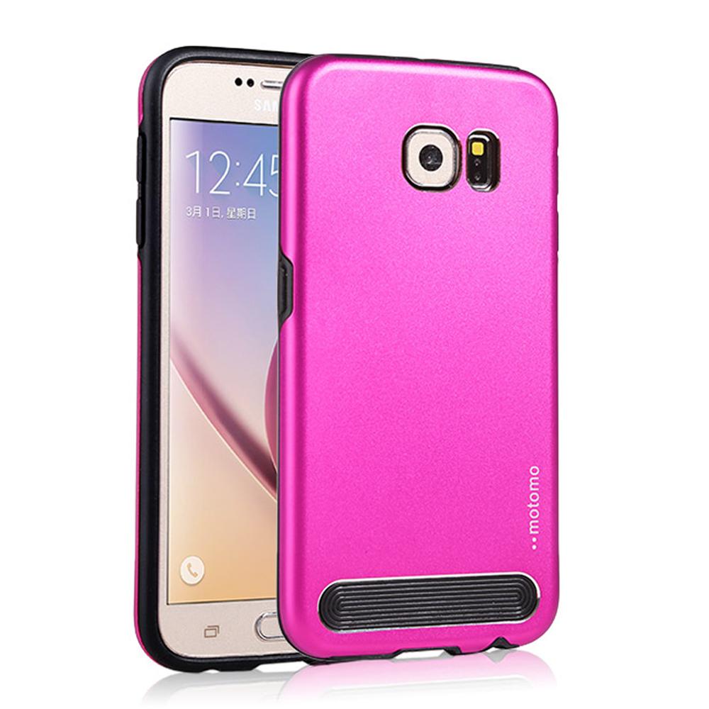 Wholesale Samsung Galaxy S6 Edge Plus Aluminum Armor Hybrid Case Protection Hot Pink