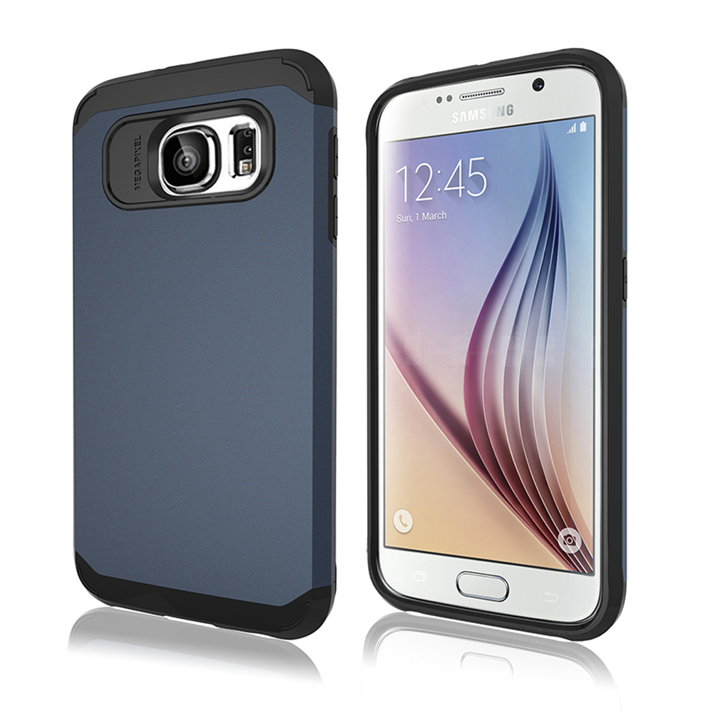 the best attitude 85215 dcf31 Wholesale Samsung Galaxy S6 Slim Fit Armor Hybrid Case (Navy Blue)