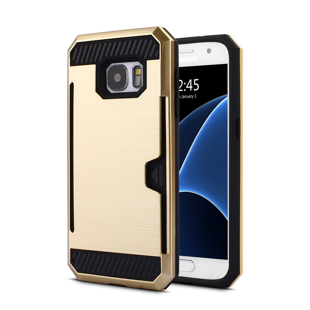 reputable site d65be 0957f Wholesale Samsung Galaxy S7 Edge Credit Card Armor Case (Champagne Gold)