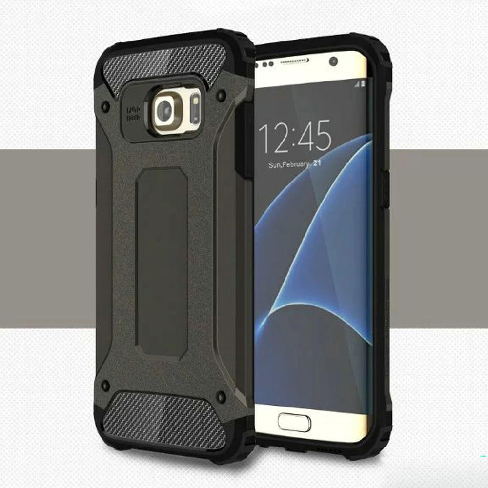 wholesale samsung galaxy s7 edge ballistic armor case (black)