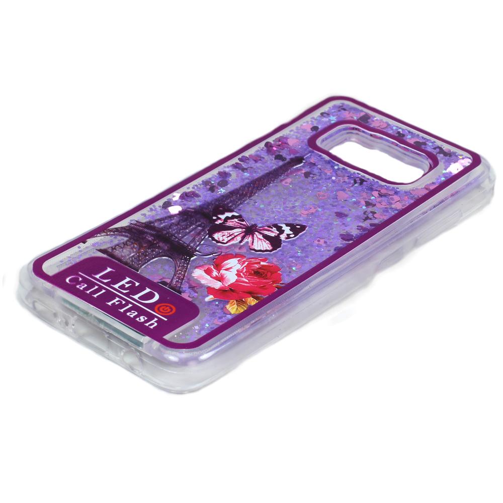 free shipping 8fee3 7d775 Wholesale Samsung Galaxy S8 Plus LED Flash Design Liquid Star Dust ...